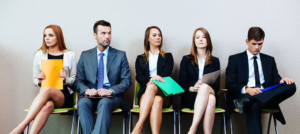 jobseekers waiting for interview